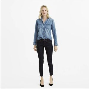 J Crew Everyday Chambray Button Down Shirt